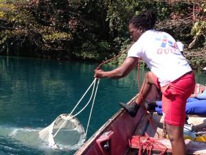 10c. Researcher conducting plankton suvey (Credit. Fabian Kyne)